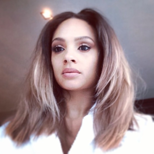Alesha Dixon shows off her new haircut and colour by Michelle Sultan, 20 January 2014