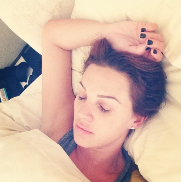 Danielle Lloyd is bedridden with the flu ahead of the National Television Awards - 22 January 2014