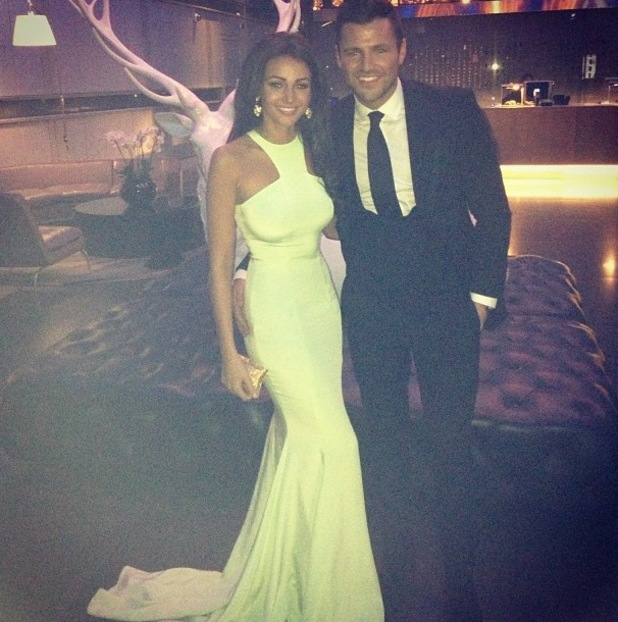 Michelle Keegan and Mark Wright at the National Television Awards - 24 Jan 2014