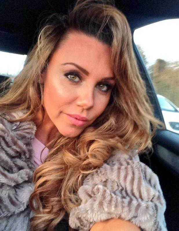 Michelle Heaton shows off her makeup ahead of National Television Awards - 22 Jan 2014