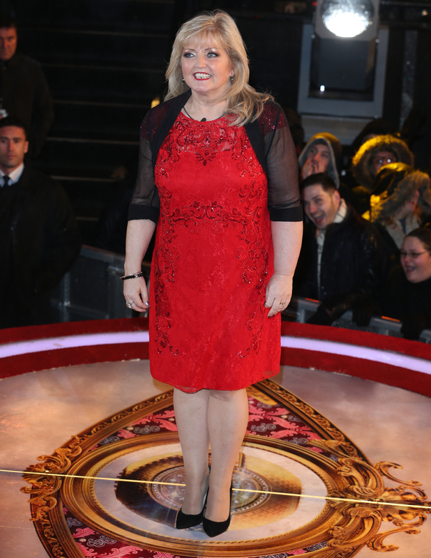 Linda Nolan leaves the CBB house, January 2014