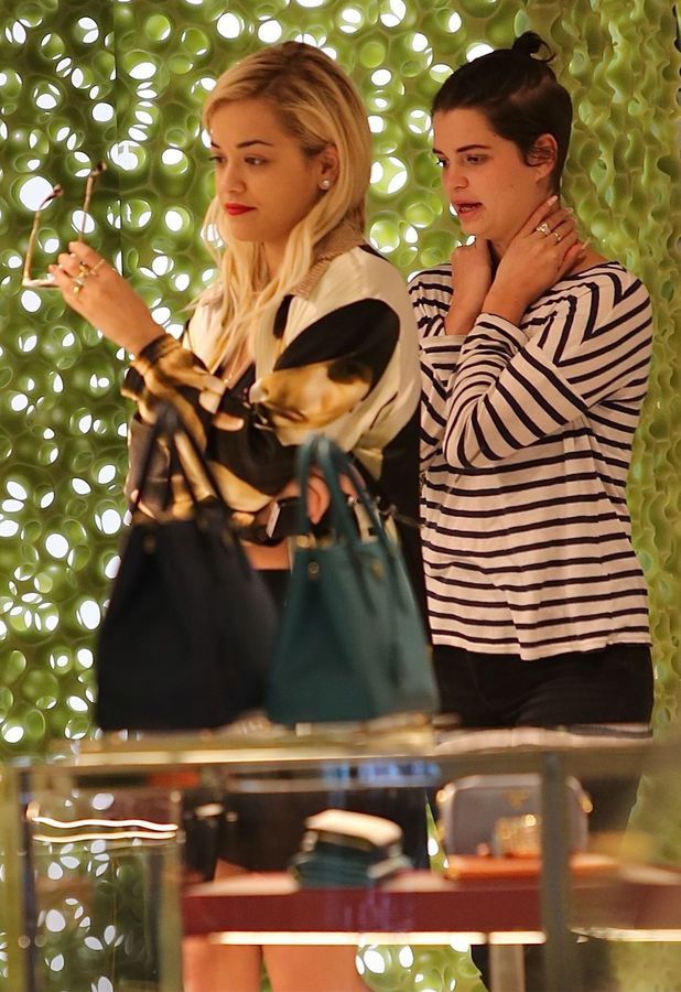Rita Ora, Pixie Geldof go shopping on Rodeo Drive in Beverly Hills, Los Angeles - 23 January 2014