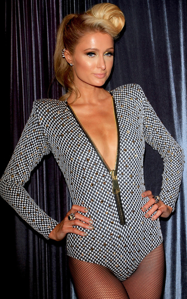 Paris Hilton at P Diddy's pre-Grammy party in Hollywood, Los Angeles - 23 January 2014