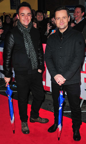 Ant & Dec at the Britain's Got Talent auditions in Belfast, Northern Ireland 18 Jan 2014
