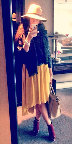 Brooke Vincent tweets picture of her outfit on 15 January 2014