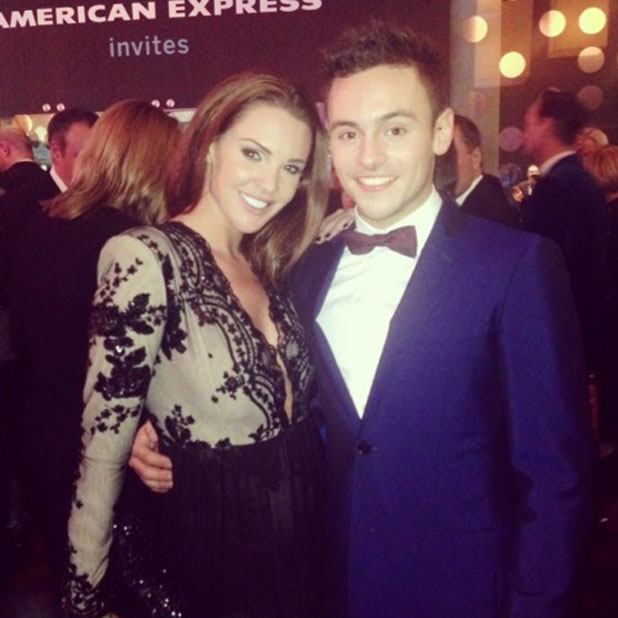 Danielle Lloyd and Tom Daley meet up at the National Television Awards, 22 January 2014