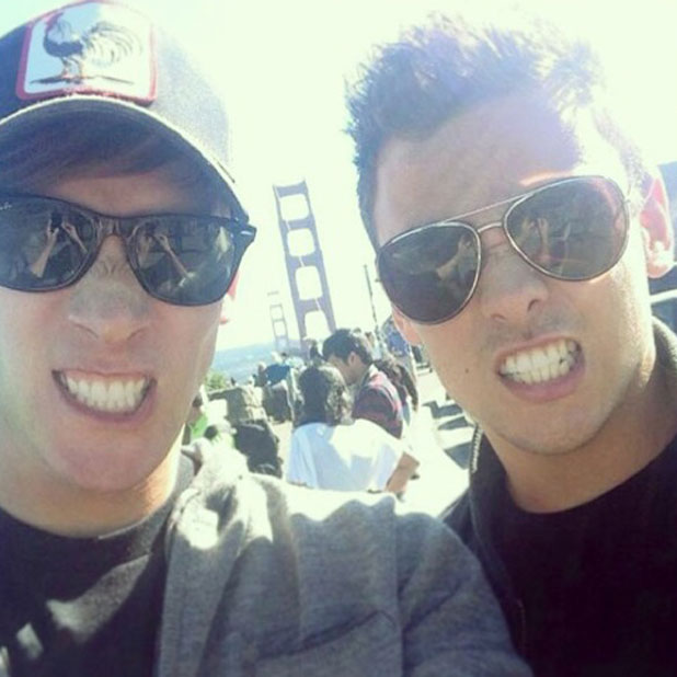 Dustin Lance Black shares photo of himself and Tom Daley taken in San Francisco in summer 2013, posted to Instagram 23 January 2014