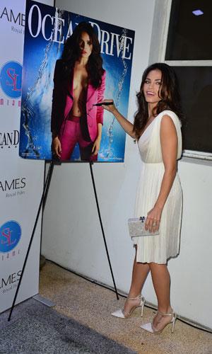 Jenna Dewan-Tatum attends Ocean Drive Magazine's 21st Anniversary event held at SL Miami at The James Royal Palm, 21 January 2014
