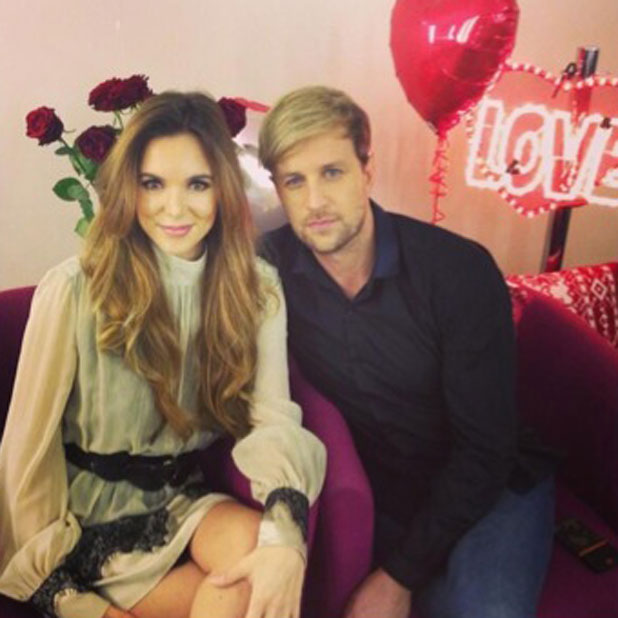 Kian Egan and Jodi Albert appear on Daybreak to launch a Valentine's Day competition 20 Jan 2014