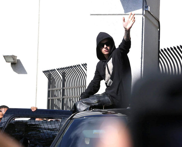Justin Bieber released on bail, Turner Guiford Knight correctional institute, Miami, America - 23 Jan 2014