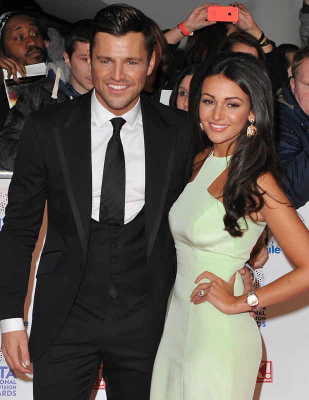Michelle Keegan and Mark Wright National Television Awards, The O2, London, Britain - 22 Jan 2014