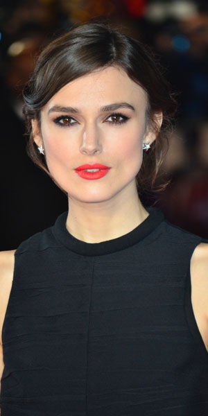 Keira Knightley at Jack Ryan: Shadow Recruit film premiere on 20 January 2014