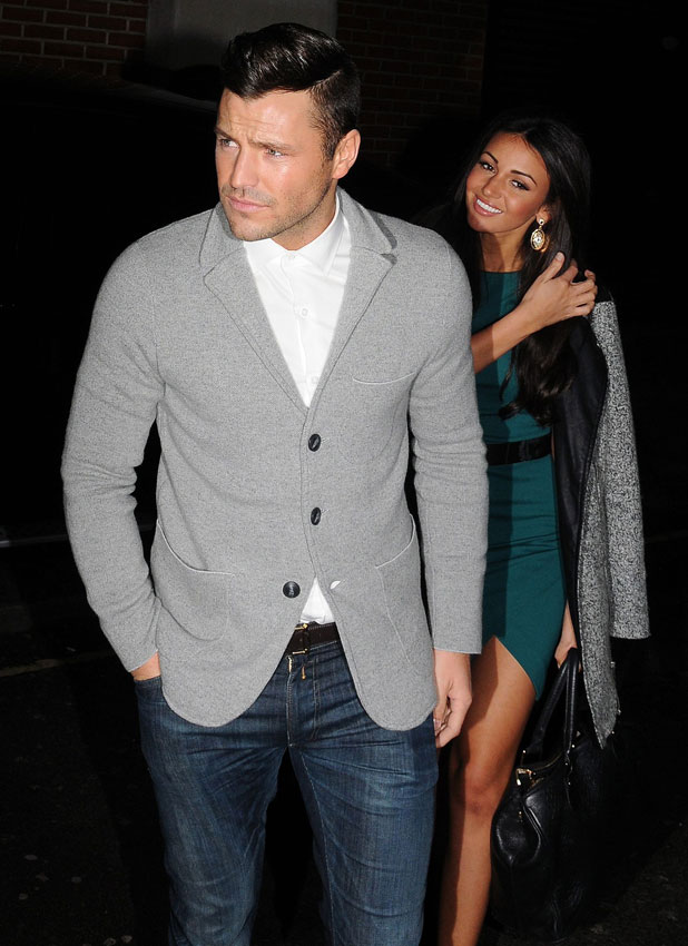 Mark Wright and Michelle Keegan at the Libertine night club, London, Britain - 22 Jan 2014