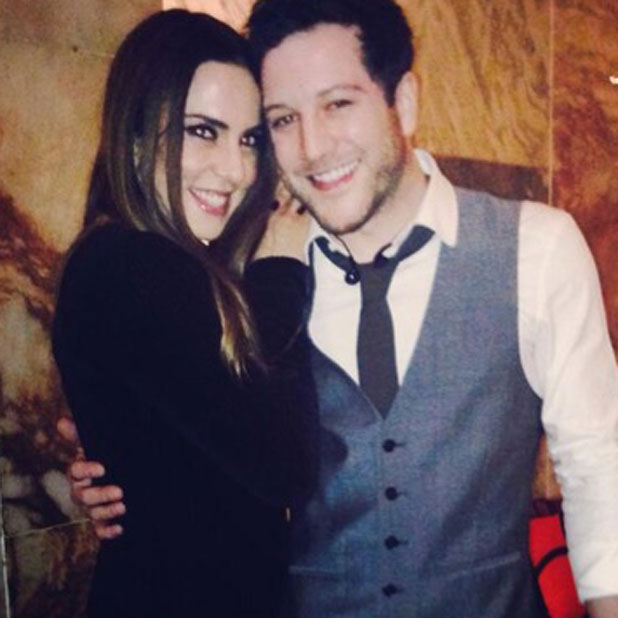 Matt Cardle and Melanie C in picture tweeted by Matt on 24 January 2014