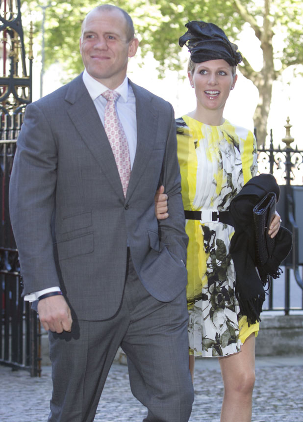 Zara Phillips and Mike Tindall, The 60th Anniversary of the Queen Elizabeth II's Coronation held at Westminster Abbey, 2013