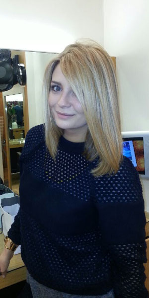 Mischa Barton gets a haircut at Inanch on 20 January 2014