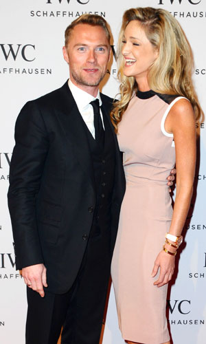 Ronan Keating and girlfriend Storm Uechtritz at IWC Schaffhausen launches their new watch collection 'Aquatimer' with a gala event, 21 January 2014