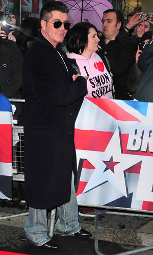 Simon Cowell at the Britain's Got Talent auditions in Belfast, Northern Ireland 18 Jan 2014