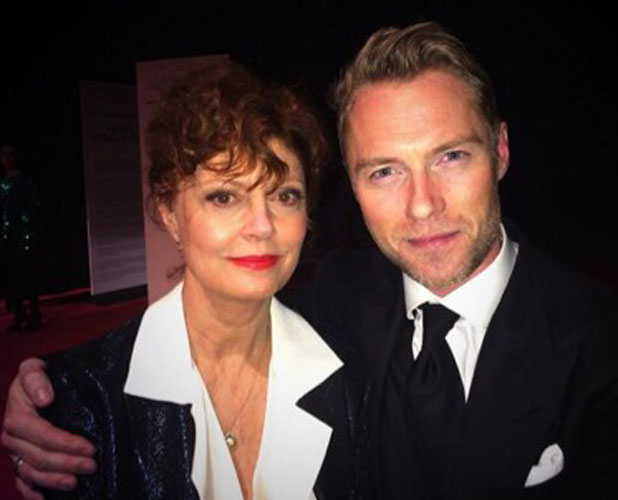 Ronan Keating meets Susan Sarandon at IWC Schaffhausen launches their new watch collection 'Aquatimer' with a gala event, 21 January 2014