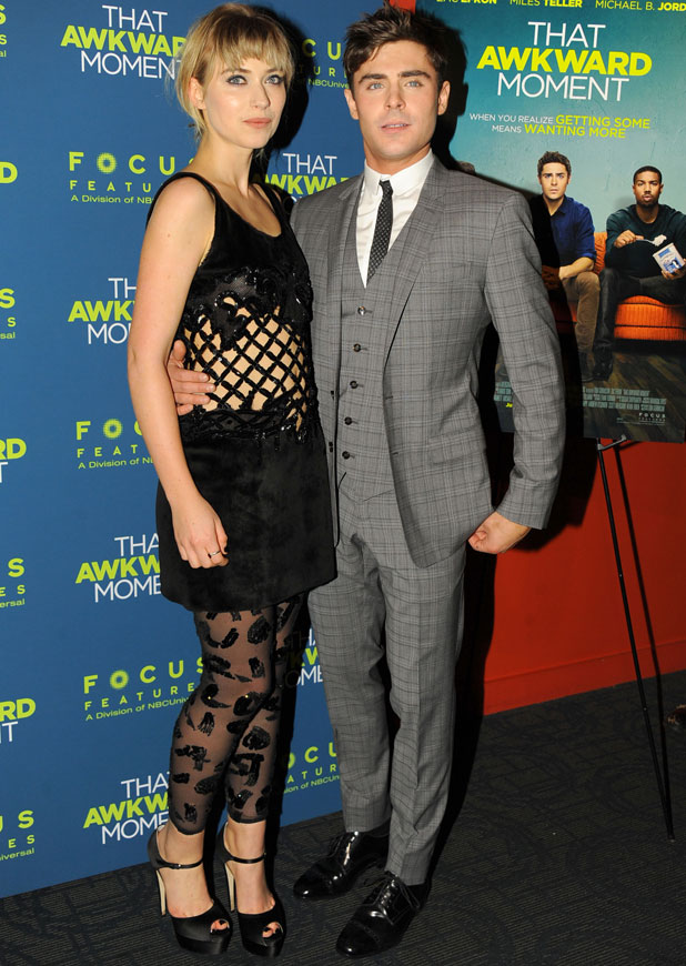 Zac Efron and Imogen Poots, That Awkward Moment' film premiere, New York, America - 22 Jan 2014
