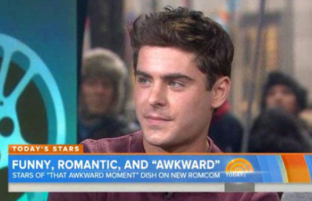 Zac Efron appearing on 'The Today Show' TV show, New York, America - 21 Jan 2014