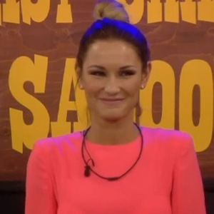 Celebrity Big Brother - Last Chance Saloon task. Sam Faiers answers questions from housemates and public (28 January).