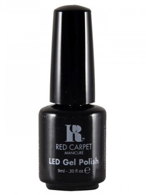 Red Carpet Manicure LED Gel Polish in Black Stretch Limo