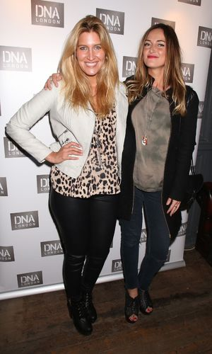 Made In Chelsea's Cheska Hull and Fran Newman-Young at the launch of DNA London, Clapham, London, Britain - 30 Jan 2014