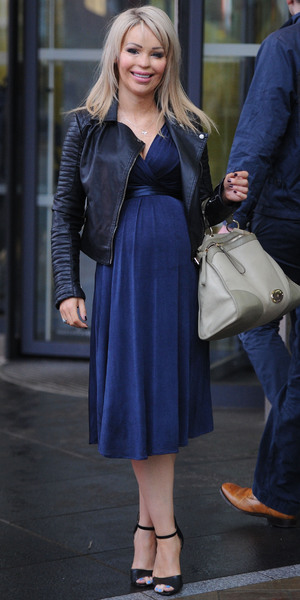 Katie Piper leaves the BBC Breakfast Studio after appearing on the show - 28 Jan 2014