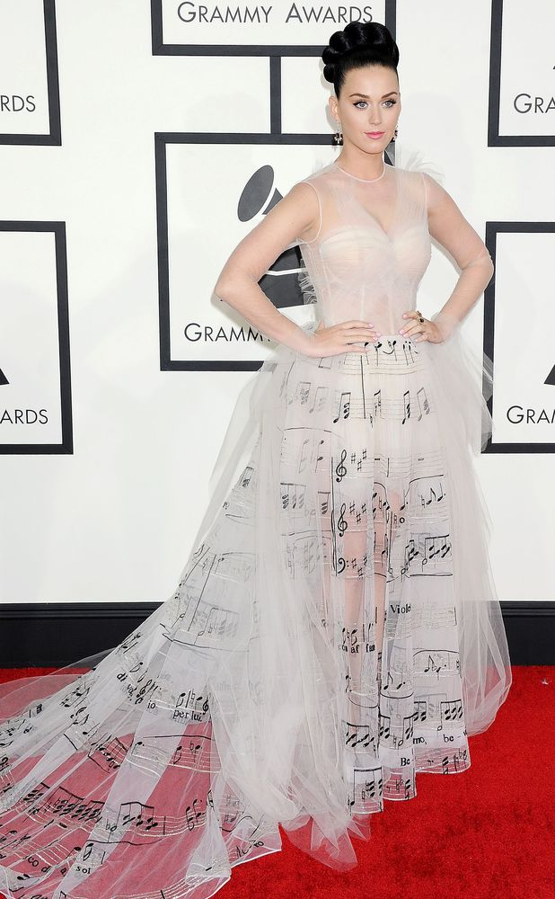 Katy Perry, 56th Annual Grammy Awards, Arrivals, Los Angeles, America - 26 Jan 2014