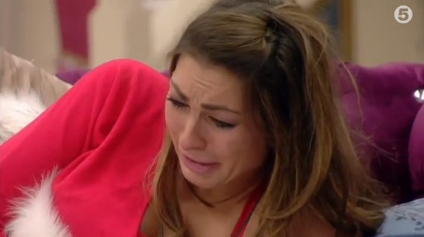 Luisa Zissman cries on CBB after a visit from her mum - 27 Jan 2014