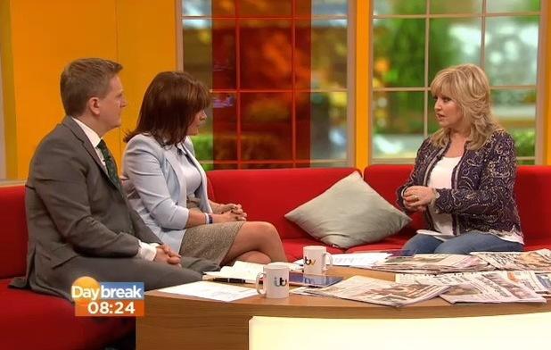 Linda Nolan appears on Daybreak to talk about CBB - 29 January 2014