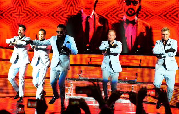 Backstreet Boys concert at the Cruzan Amphitheater at West Palm Beach, United States. 08/26/2013.