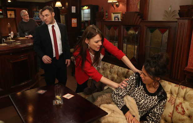 Corrie, Tracy finds out about Tina and Rob, Mon 3 Feb