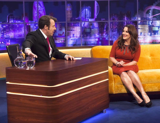 Jonathan Ross and Sam Bailey on 'The Jonathan Ross Show' TV Programme, London, Britain - 25 Jan 2014