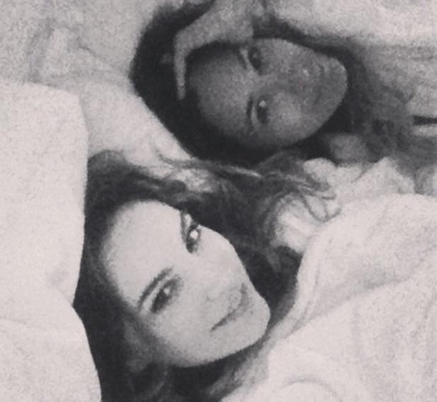 Kelly Brook and Preeya Kalidas in bed, London - 30.1.2014