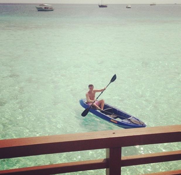 Billie Faiers on 'babymoon' in paradise location with boyfriend Grey Shepherd - January 2014