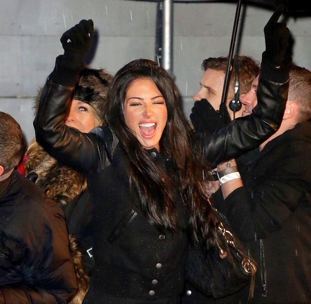 'Celebrity Big Brother' final, Elstree Studios, Hertfordshire, Britain - 29 Jan 2014 Tulisa Contostavlos cheers