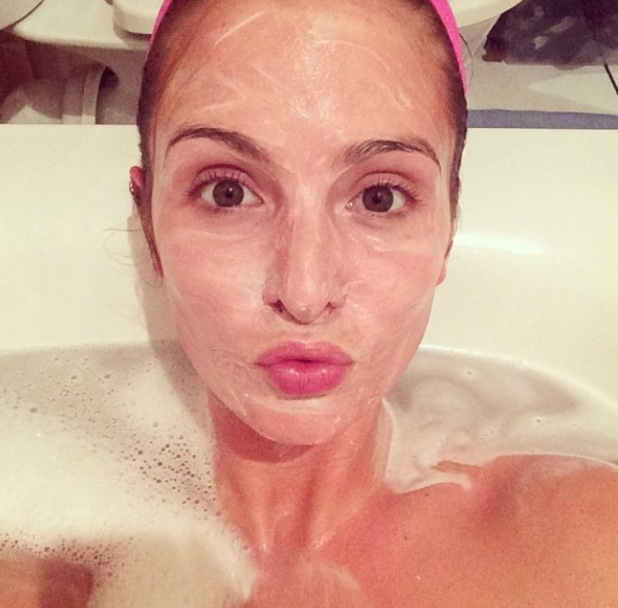 Millie Mackintosh/Manderson pampers herself with a face mask - 27.1.2014