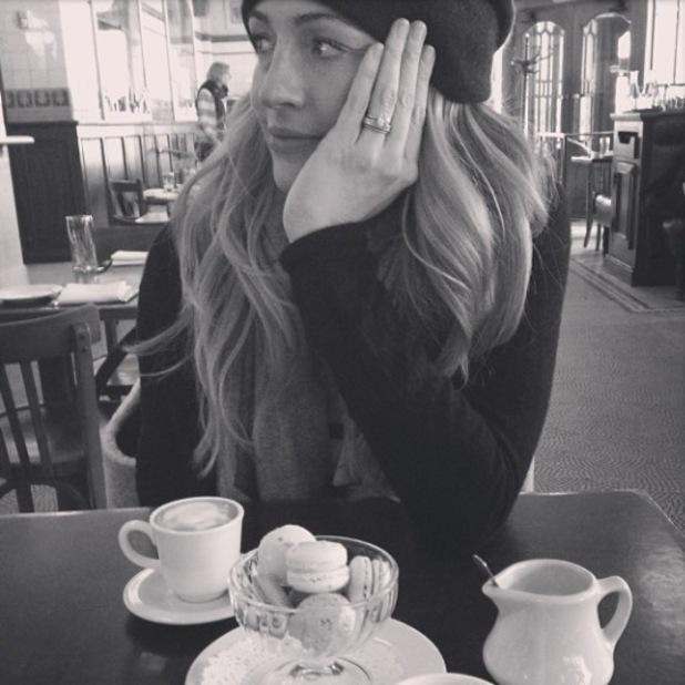 Cat Deeley in a café in Philadelphia - January 2014