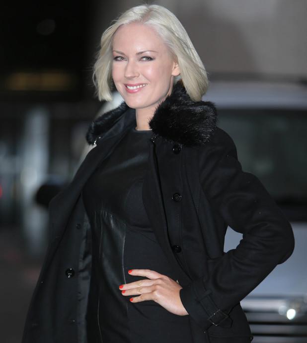 Stella English seen outside the ITV studios - 01/08/2014