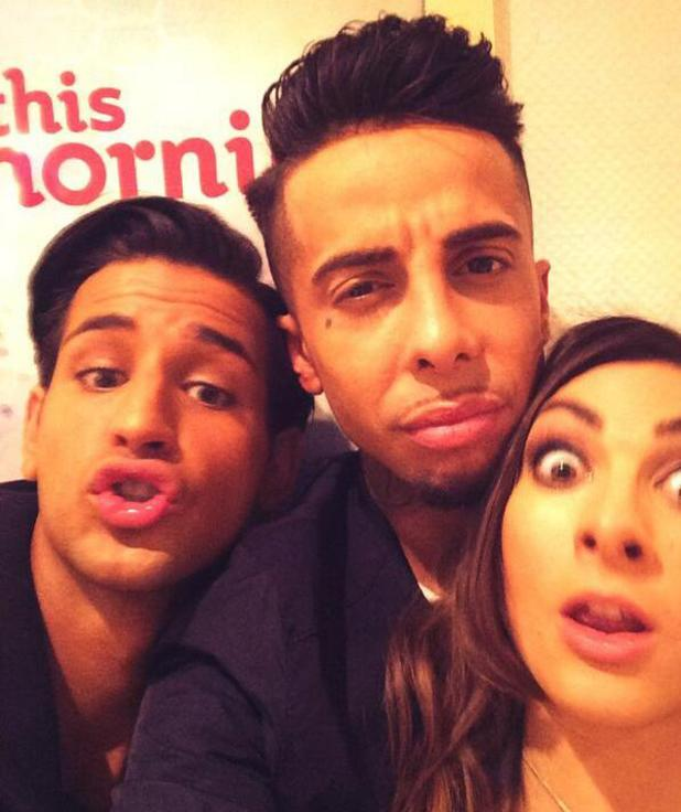 Dappy, Luisa Zissman, Ollie Locke at ITV studios - 31.1.2014