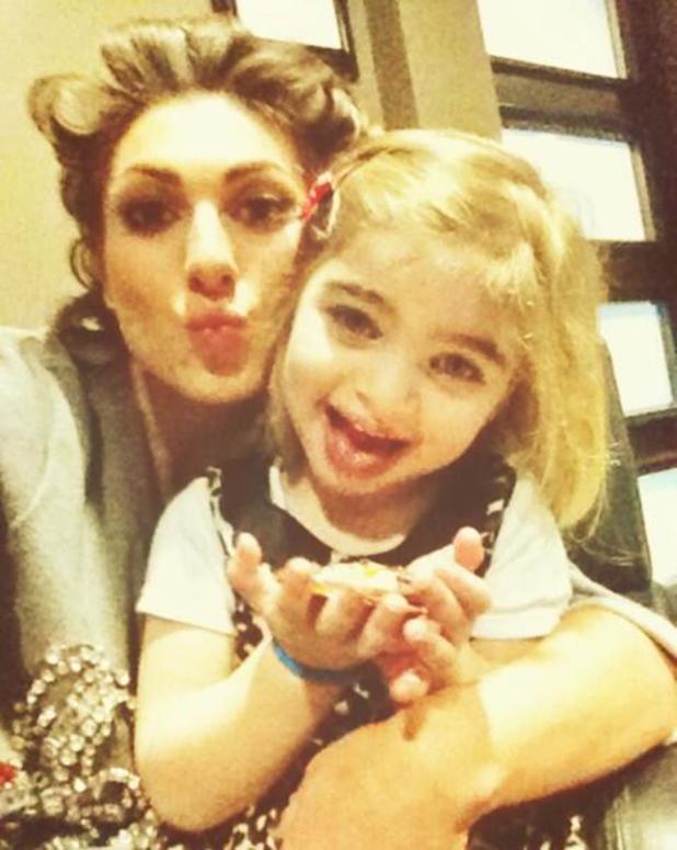Luisa Zissman reunites with daughter Dixie after Celebrity Big Brother final - 30 Jan 2014