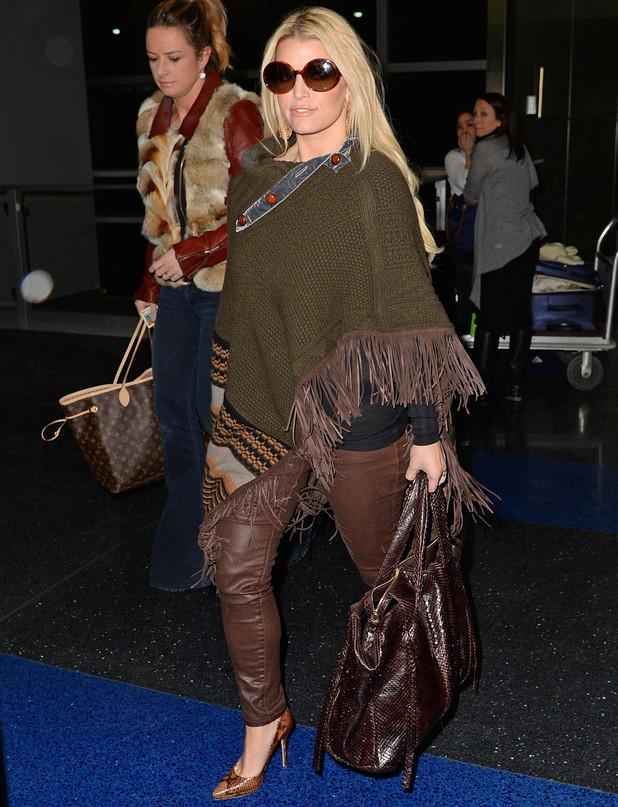 Jessica Simpson at JFK Airport, New York, America - 30 Jan 2014