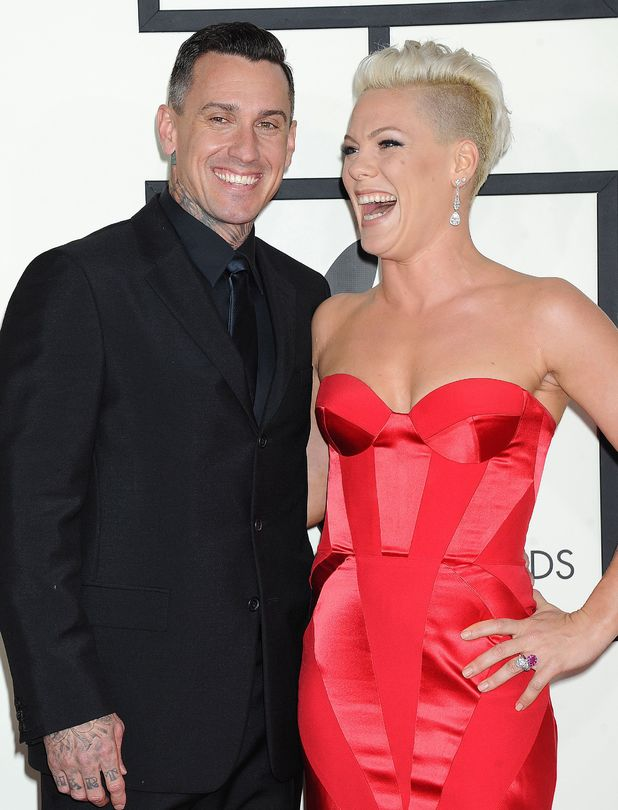 Pink with cool, friendly, charming, Husband Carey Hart
