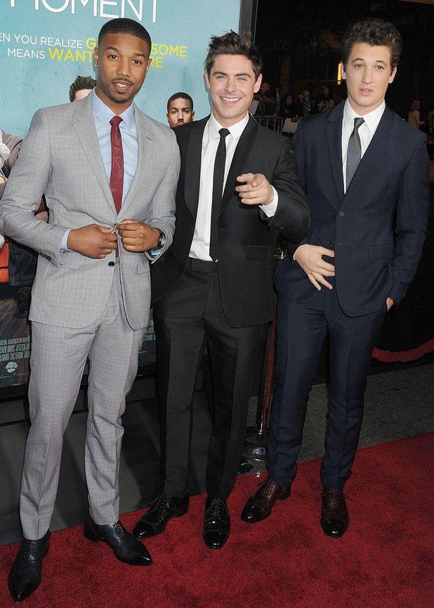'That Awkward Moment' film premiere, Los Angeles, America - 27 Jan 2014 Michael B. Jordan, Zac Efron and Miles Teller