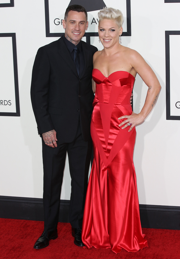 The 56th Annual GRAMMY Awards held at the Staples Center, LA - 26.1.2014 Pink, Carey Hart