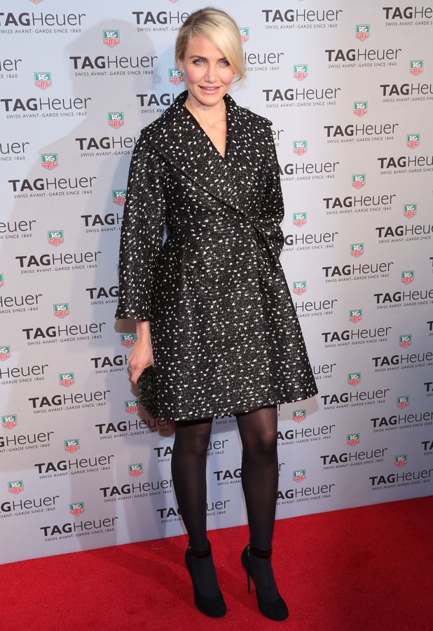 Cameron Diaz at the TAG Heuer flagship store opening in New York, America, 28 January 2014