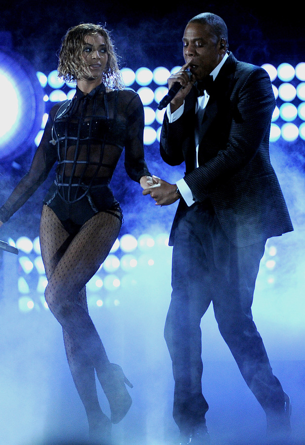 Beyonce and Jay-Z perform at the 56th Annual Grammy Awards in Los Angeles, America - 26 January 2014