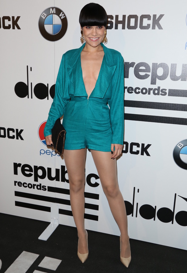 Jessie J attends the Republic Records post-Grammy party in Los Angeles, America, 26 January 2014